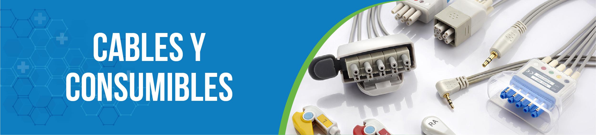 Cables y consumibles equipos médicos
